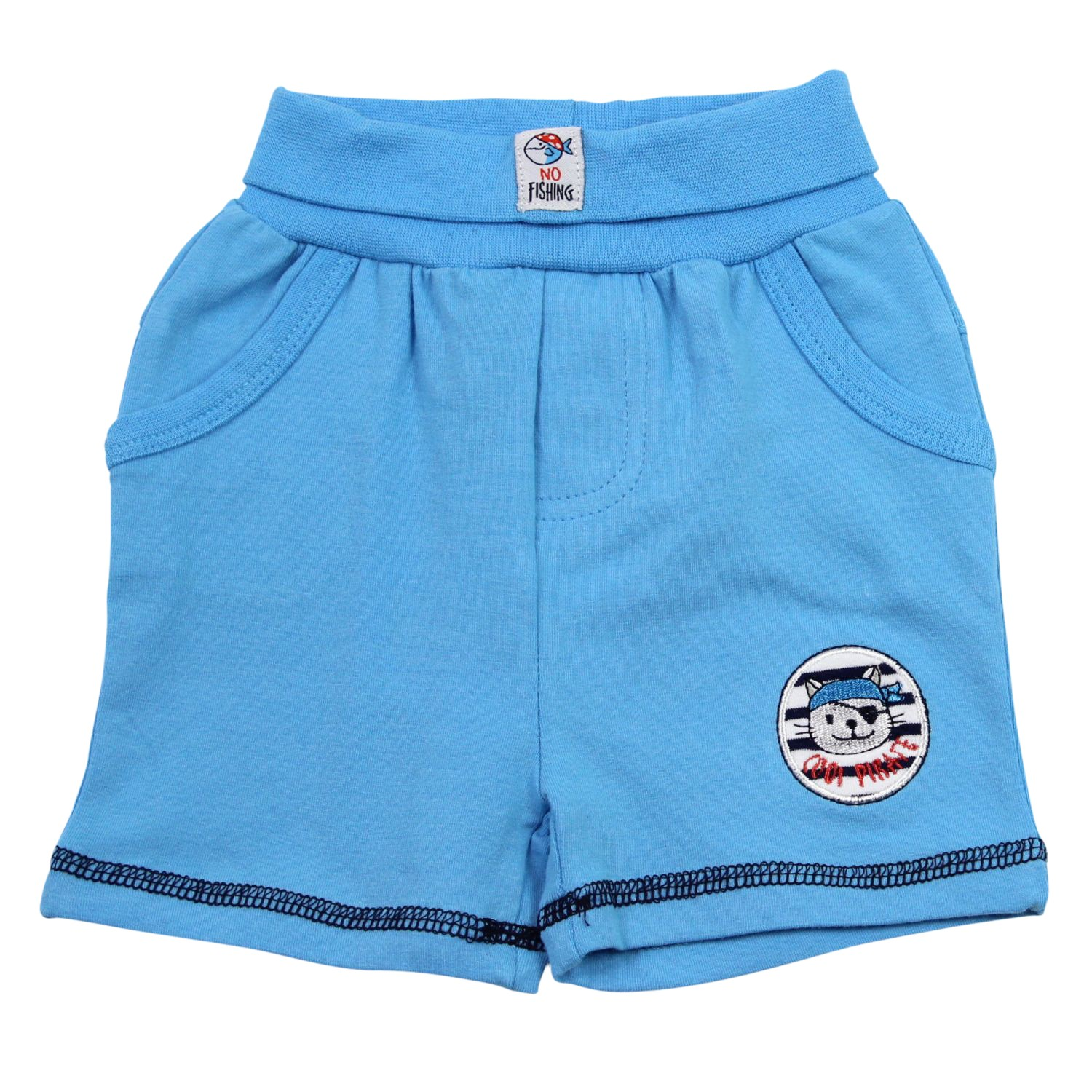 salt and pepper baby jungen bermuda kurze hose shorts kater pirat blau ebay. Black Bedroom Furniture Sets. Home Design Ideas