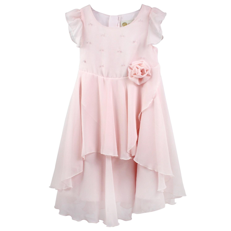 eisend kids festliches kleid f r m dchen rosa mit perlen. Black Bedroom Furniture Sets. Home Design Ideas